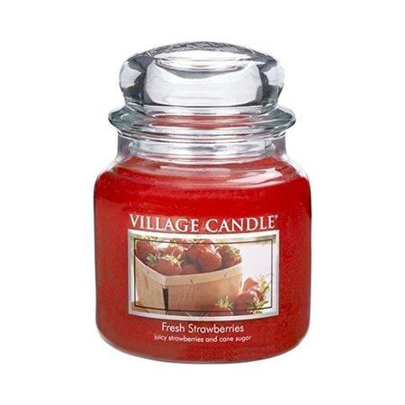 Village Candle Vonná svíčka ve skle, Čerstvé jahody - Fresh Strawberry, 645 g