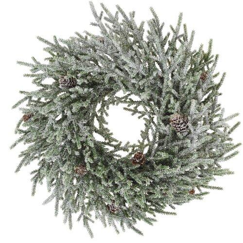 Vánoční věnec Camelle bílo-zelená, 43 cm