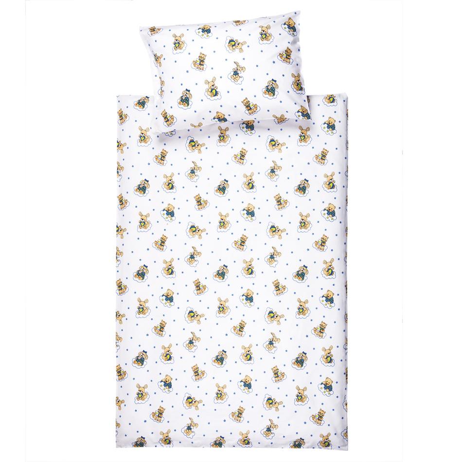 Jahu Detské bavlnené obliečky do postieľky Zvieratká, 100 x 135 cm, 40 x 60 cm
