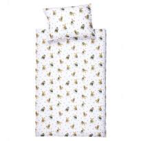 Bawełniana bielizna pościelowa do łóżeczka Zwierzaki, 90 x 130 cm, 40 x 60 cm