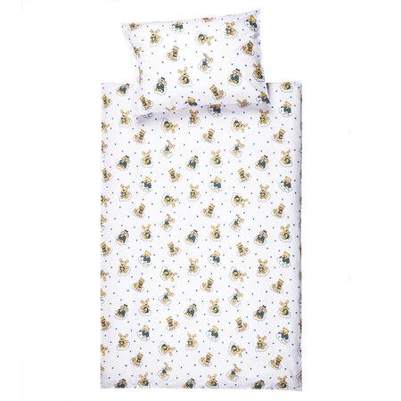 Detské bavlnené obliečky do postieľky Zvieratká, 90 x 130 cm, 40 x 60 cm