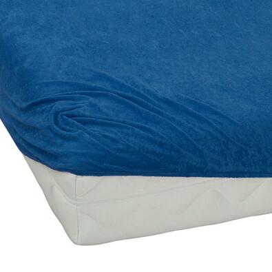 BedTex froté prostěradlo tmavě modrá, 180 x 200 cm
