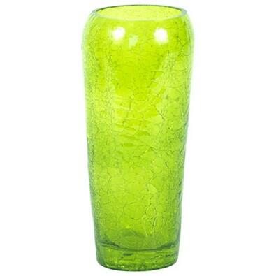 Váza skleněná zelená 8 x 19 cm