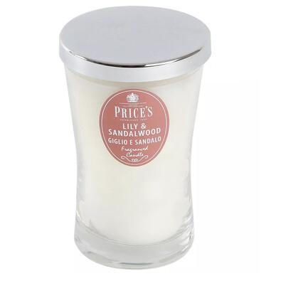 Price´s vonná svíčka ve skle lilie a santálové dřevo 13 cm