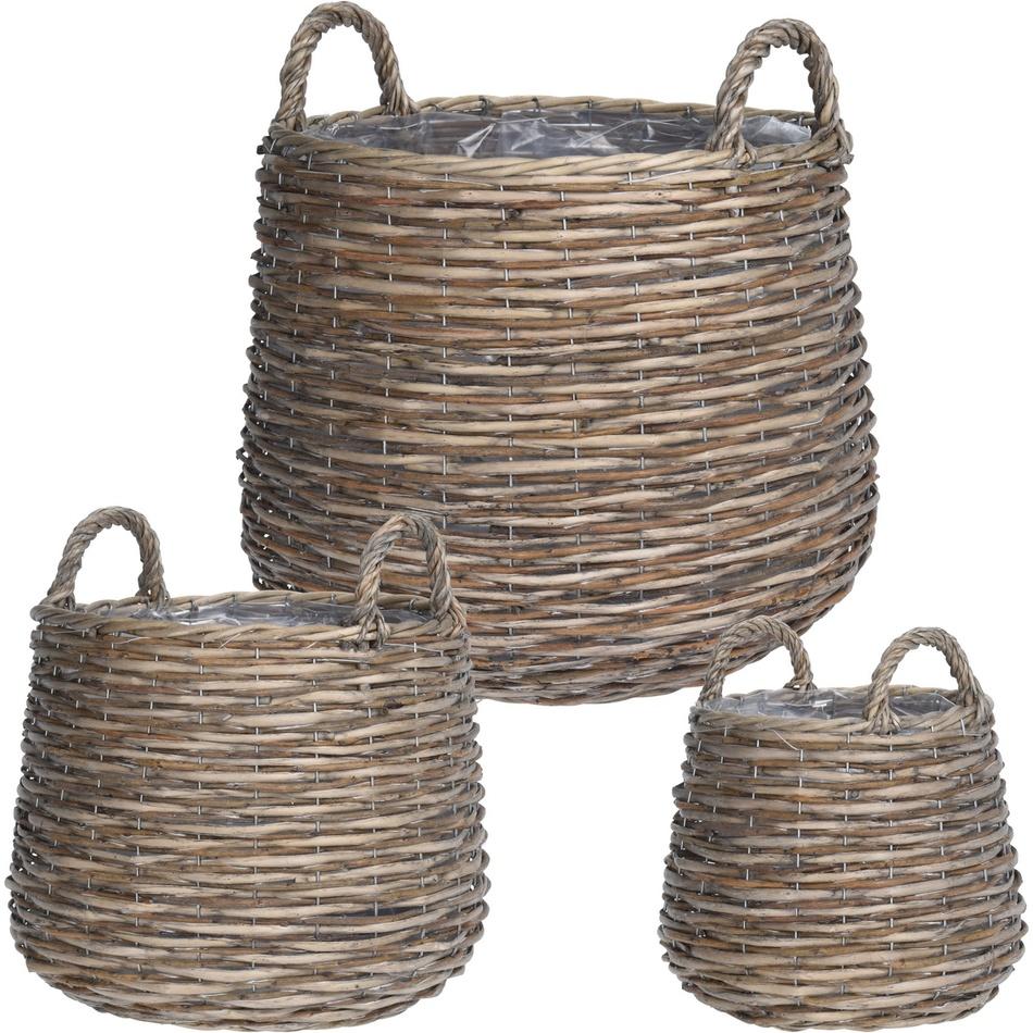 Koopman Sada proutěných košíků Vimini, 3 ks