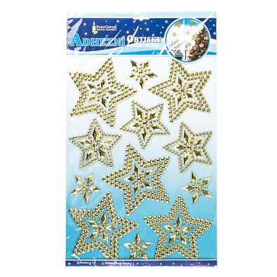 Vánoční 3D samolepky hvězdy zlatá