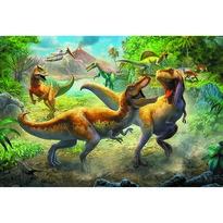 Trefl Puzzle Dinosauří souboj, 160 dílků