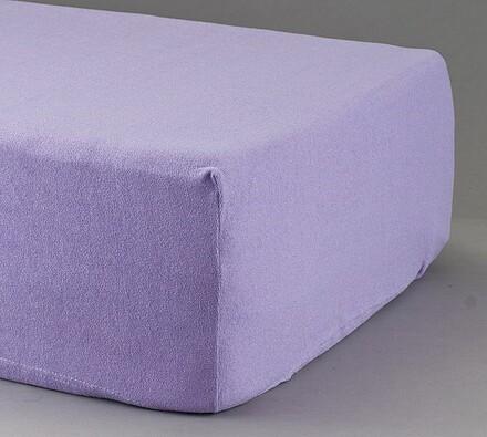 Prostěradlo froté, violet, 2 ks 90 x 200 cm