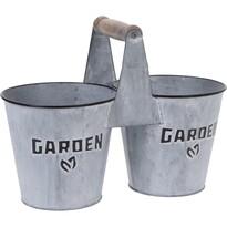 """Cynkowa osłonka na doniczki Koopman""""Garden Plant"""", 26,5cm"""