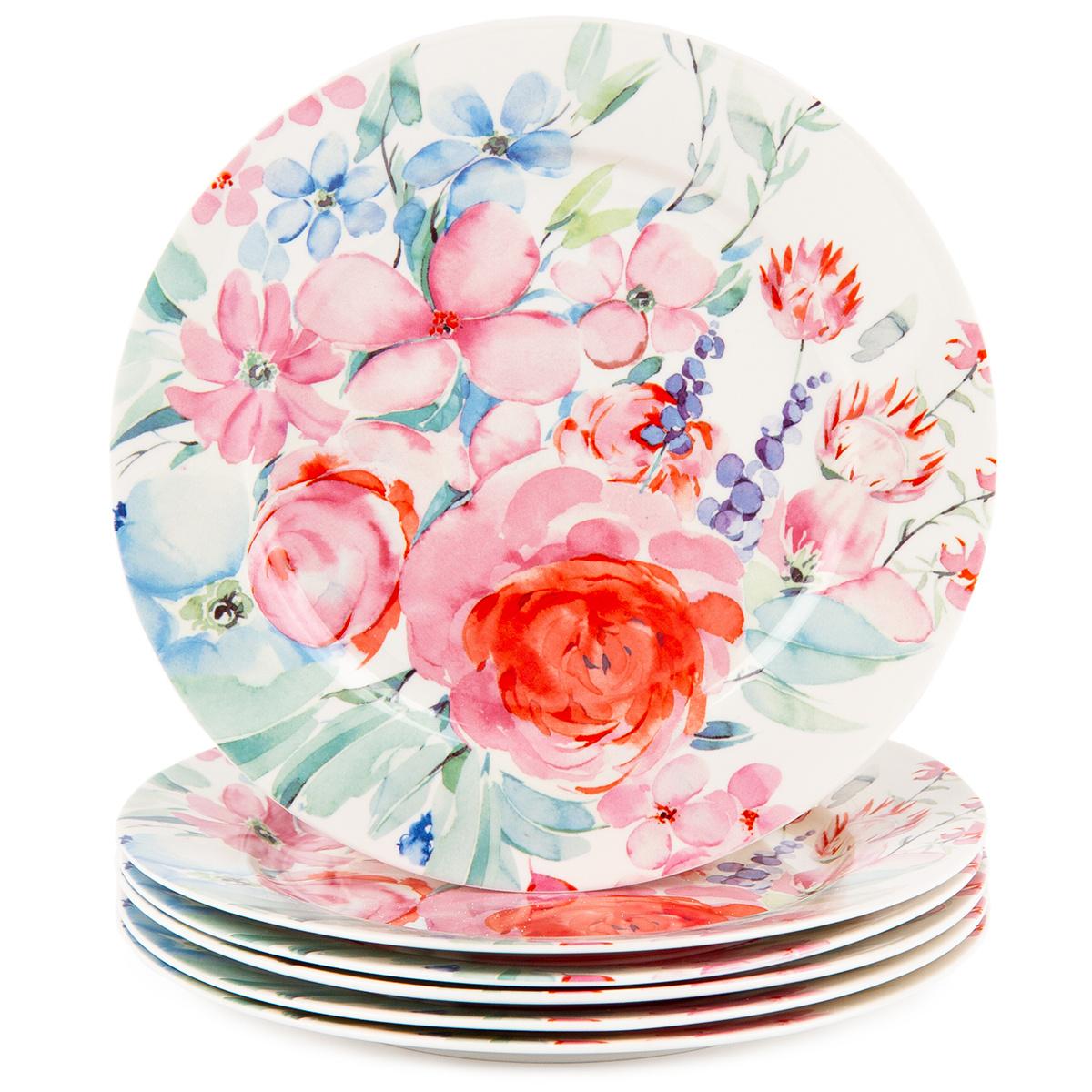 Altom 6-dielna sada dezertných tanierov Pastelový  květ 19 cm
