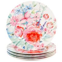 Altom 6-dielna sada dezertných tanierov Flowers 19 cm