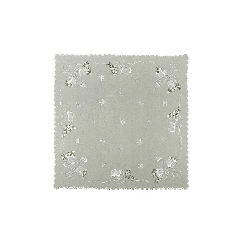 Forbyt Vianočný obrus chalúpky sivá, 35 x 35 cm