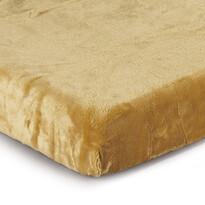 Cearşaf Micro-pluş culoarea mierii, 180 x 200 cm