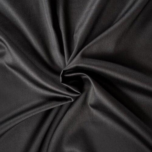 Kvalitex prostěradlo satén černé, 180 x 200 cm