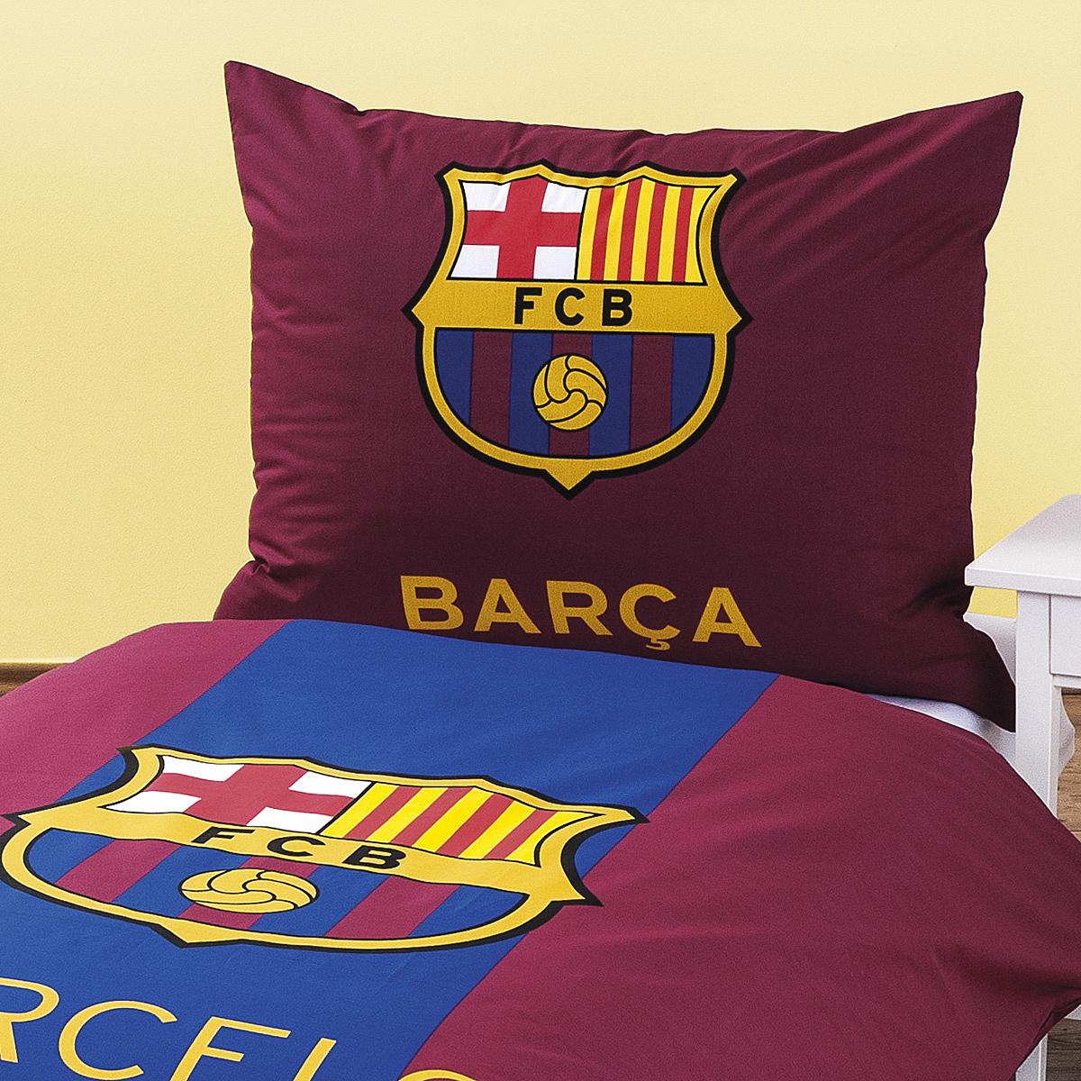 Bavlněné povlečení FC Barcelona, 140 x 200 cm, 70 x 90 cm