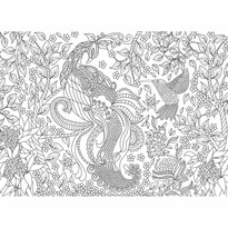 EuroGraphics Color me puzzle Tropičtí ptáci, 500 dílků + sada na zavěšení