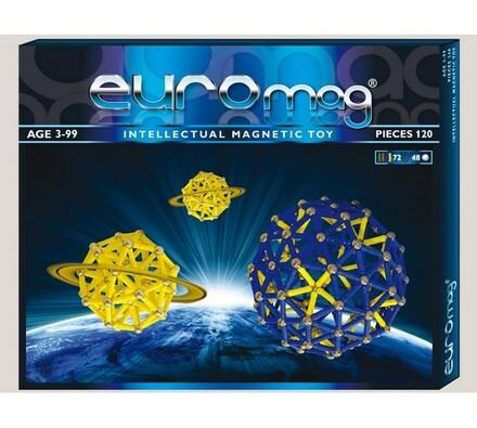 Magnetická stavebnice Euromag - 120 dílků