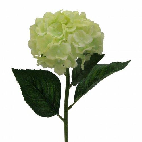Floare artificială Hortensia, verde deschis