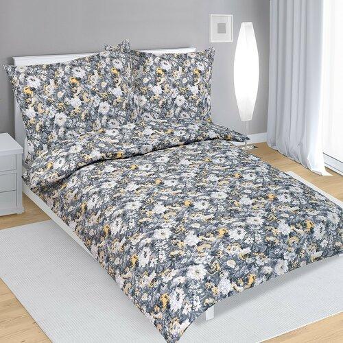Krepové obliečky Dahlia sivá, 140 x 220 cm, 70 x 90 cm