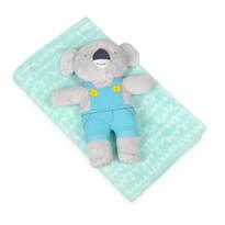 Dětská deka tyrkysová s plyšákem koala, 75 x 100 cm