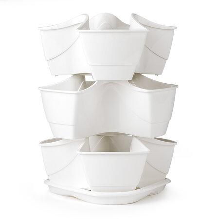 Coubi gyógynövény virágtartó 3 emeletes – fehér