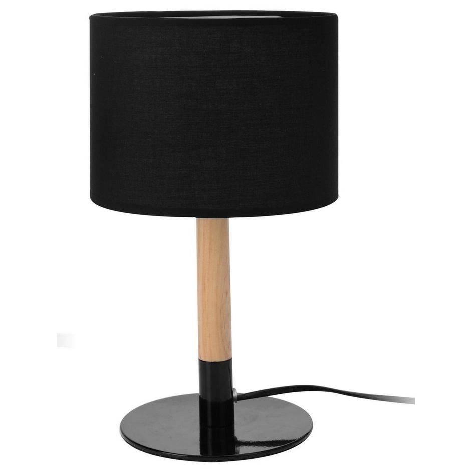 Stolní lampička WOOD, černá