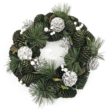 Vianočný veniec 30 cm strieborná