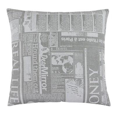 Polštářek Rita Noviny šedá, 40 x 40 cm