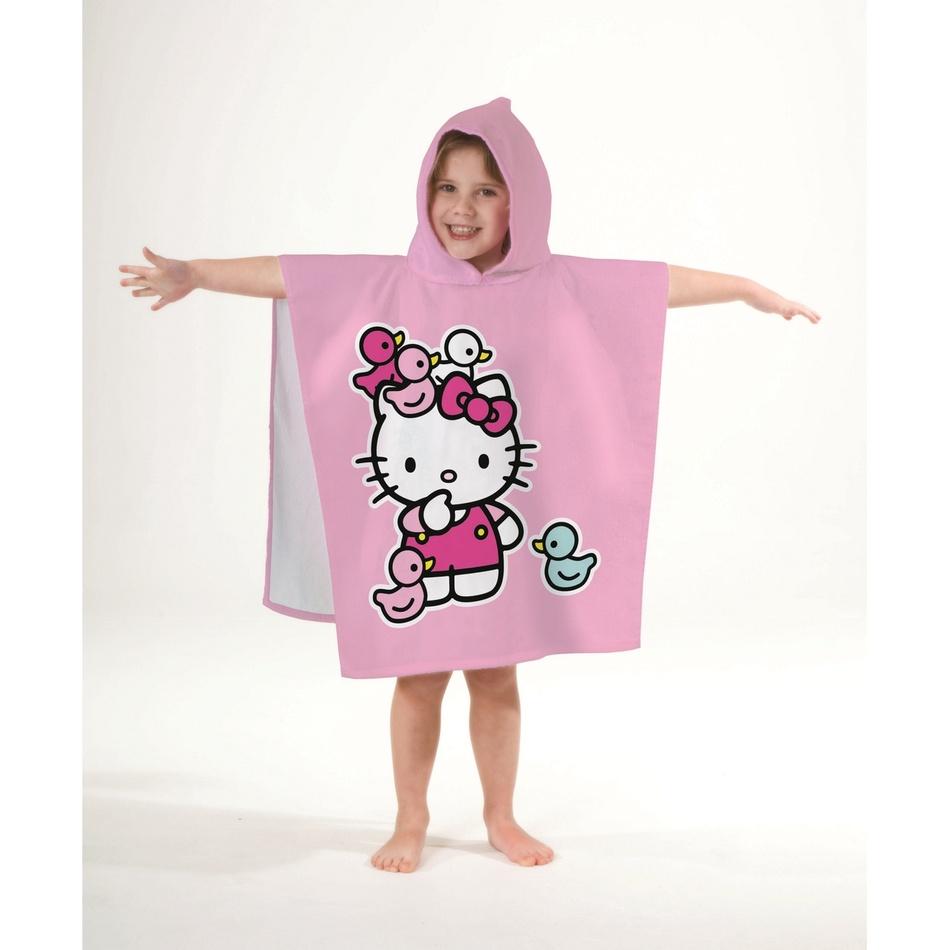 CTI Detské pončo Hello Kitty Ducky, 60 x 120 cm