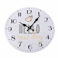 Ceas de perete Hello new day, diam. 34 cm