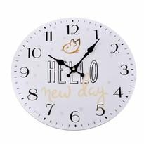 Nástěnné hodiny Hello new day, pr. 34 cm