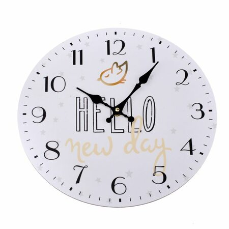 Ceas de perete Hello new day, diam. 34 cm