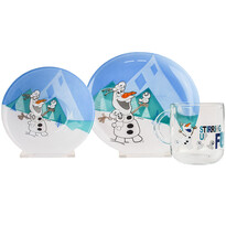 Mäser 3dílná dětská jídelní sada Frozen, Olaf a Snowmen
