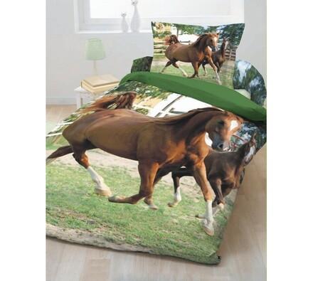 Bavlněné povlečení Jerry Fabrics Koně 2, 70x90cm,