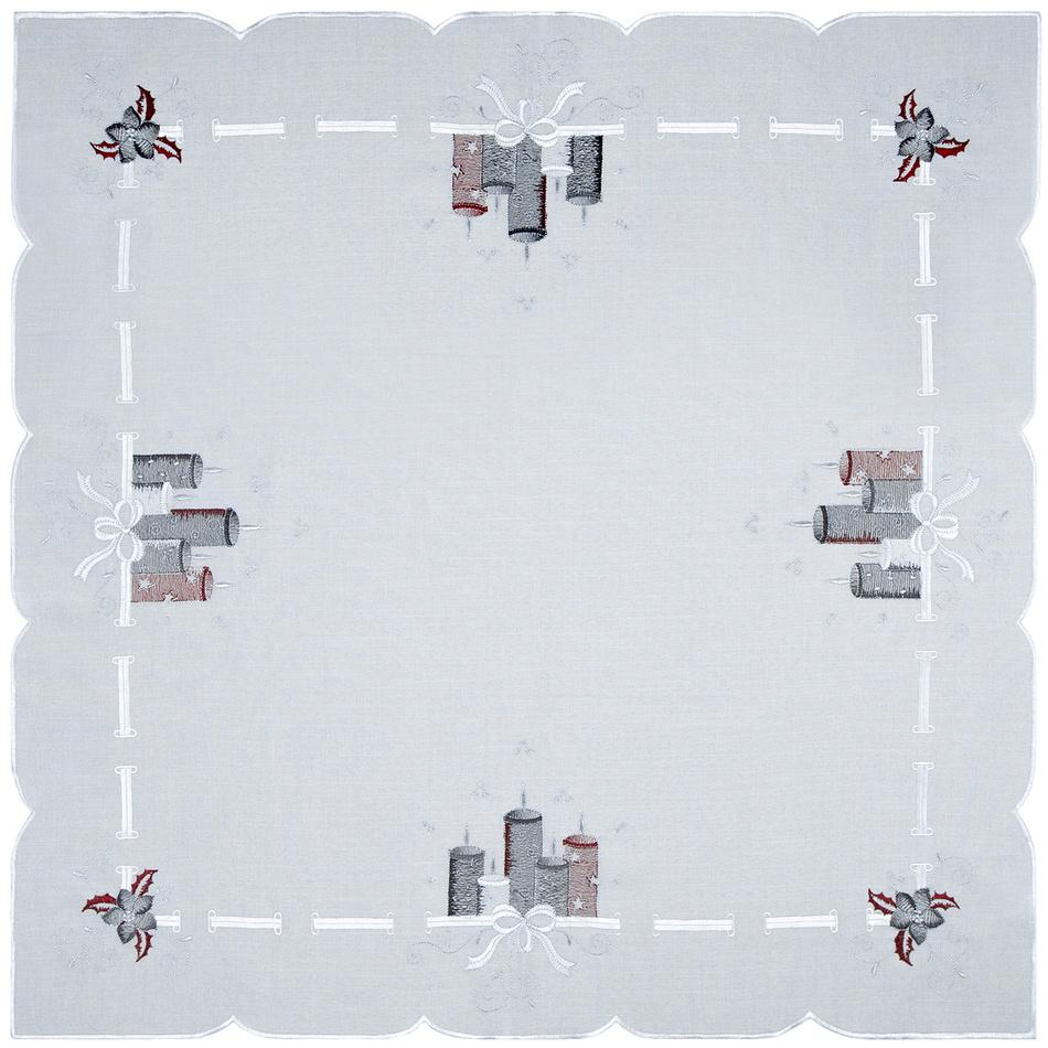 Forbyt Vánoční ubrus Svíčky barevná, 85 x 85 cm