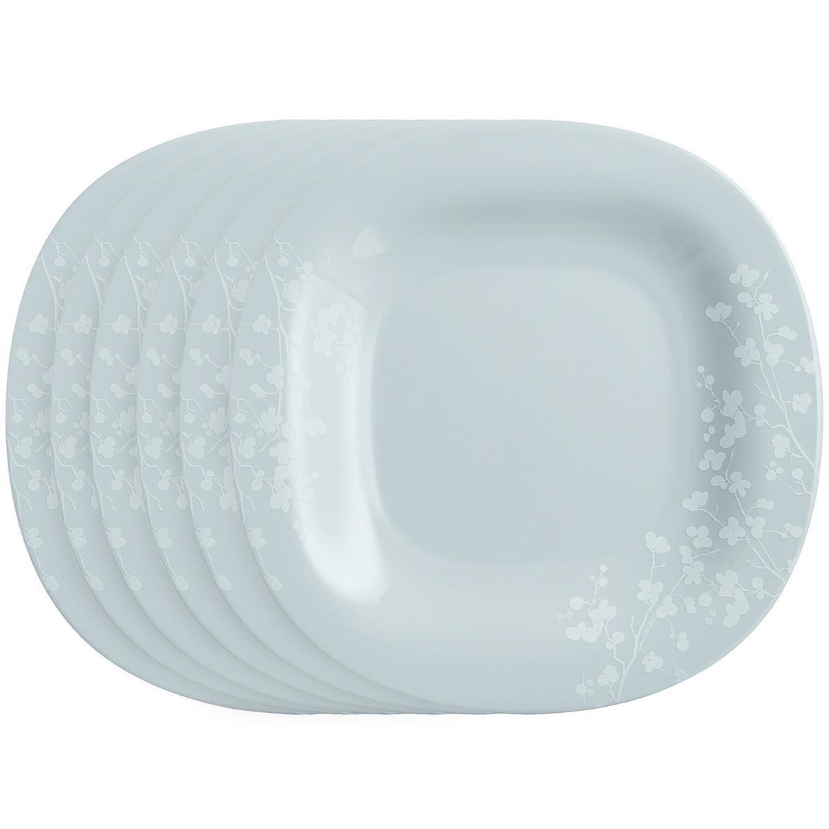 Luminarc Sada mělkých talířů Ombrelle 27 cm, 6 ks, šedá