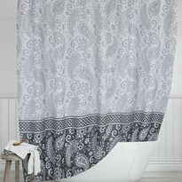 Sprchový závěs Kašmír šedá , 180 x 200 cm