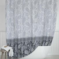 Sprchový záves Kašmír sivá, 180 x 200 cm