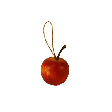 Dekorace jablíčko, sada 24 ks, červená
