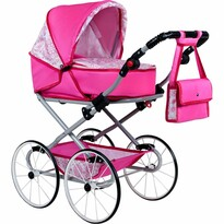 New Baby Kočárek pro panenky Natálka, růžová
