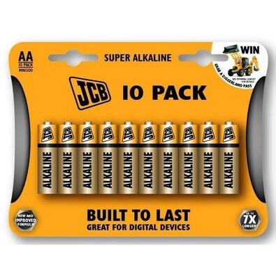 JCB SUPER alkalická baterie LR06,blistr 10ks