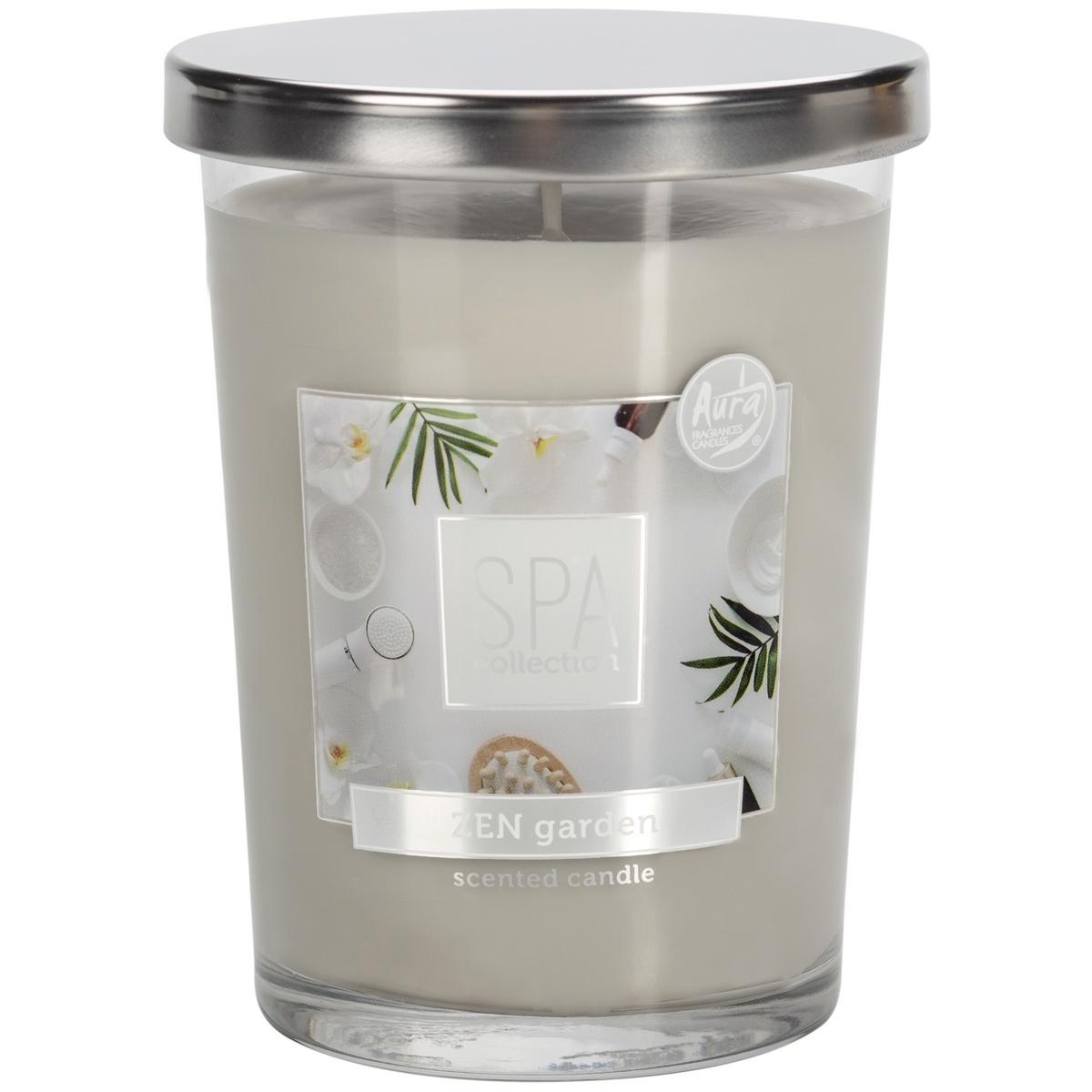 Lumânare parfumată în sticlă Spa Zen garden, 340 g, 12,2 cm imagine 2021 e4home.ro