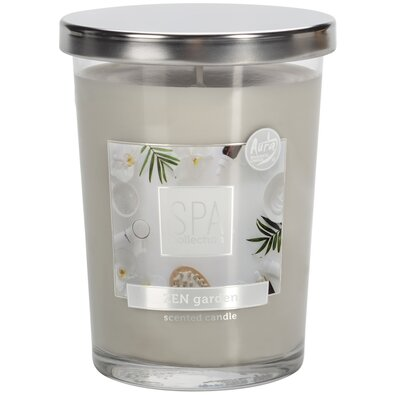 Lumânare parfumată în sticlă Spa Zen garden, 340 g, 12,2 cm