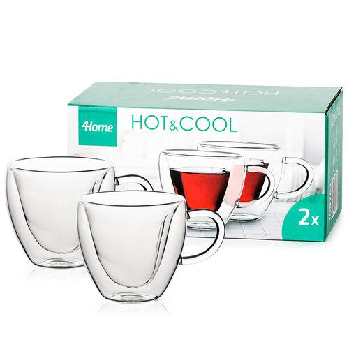 4Home Pahare termo Big Heart Hot&Cool 250 ml, 2 buc
