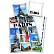 Bavlněné povlečení Paris collage, 140 x 200 cm, 70 x 90 cm