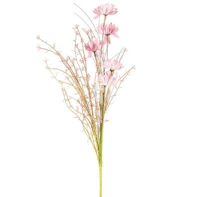 Umělé luční květy 50 cm, starorůžová