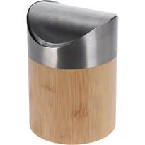 Coș de gunoi cosmetic Lina, din bambus, 1 l