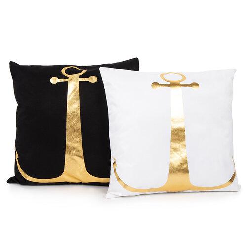 Vankúšik Gold De Lux Kotva čierna, 43 x 43 cm