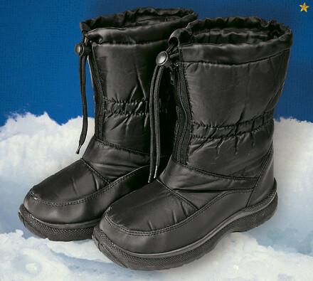 Nepromokavá zimní obuv s kožíškem, černá, 42