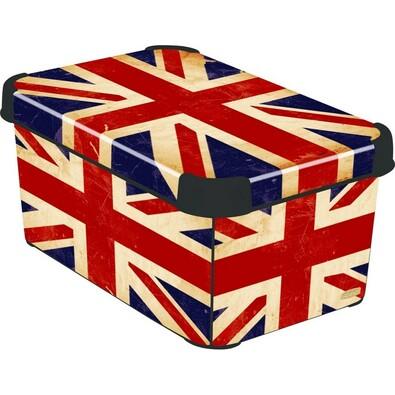 Curver BRITISH FLAG úložný box dekorativní malý
